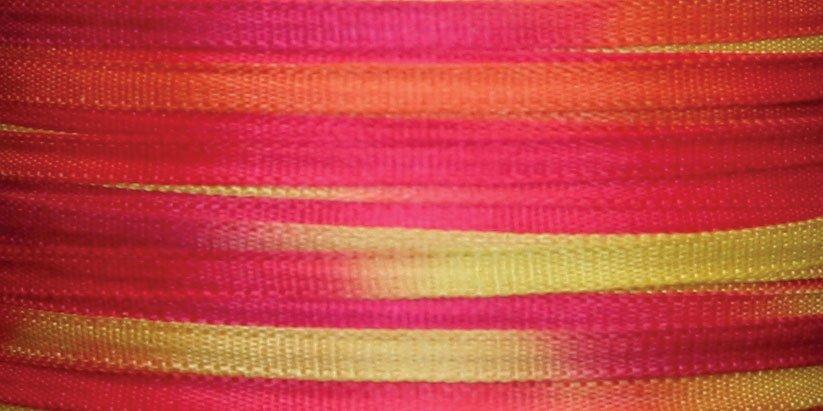 #124 AFRICAN DAISIES 100% Japanese Silk Ribbon 7mm x 3 yds.