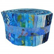 Fabric. Java Batiks Country Blues Pre-Cut strips Jelly Roll (40)