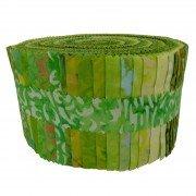 Fabric. Java Batiks Village Green Pre-Cut strips Jelly Roll (40)