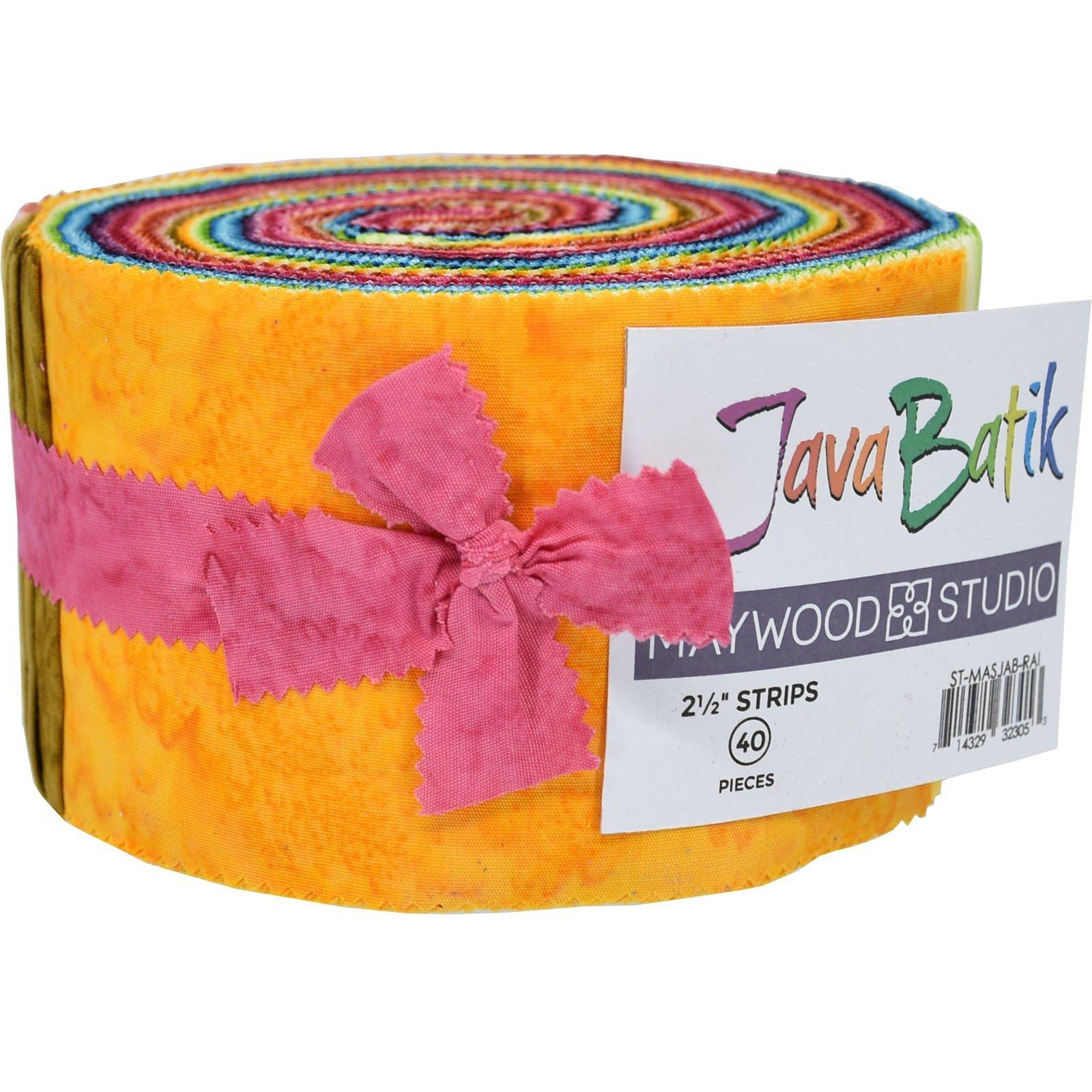 Maywood Java Batiks Rainbow Strips (40)