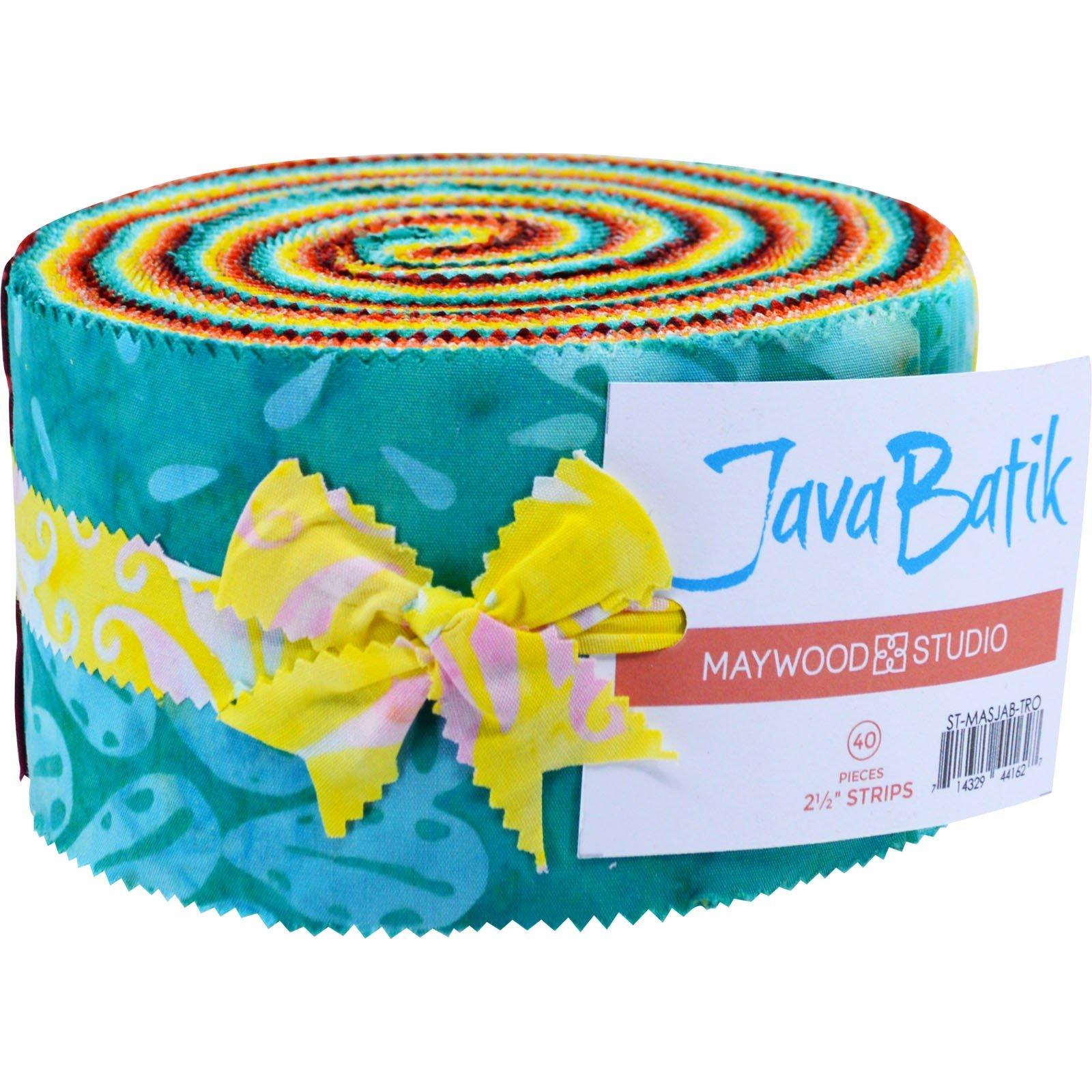 Fabric. Java Batiks TROPICAL Pre-Cut strips Jelly Roll (40)