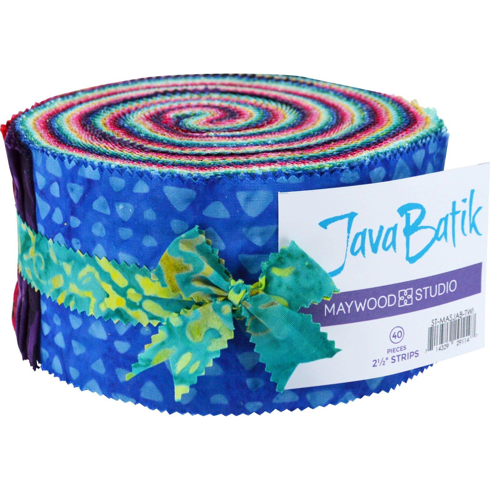 Fabric. Java Batiks TWILIGHT Pre-Cut strips Jelly Roll (40)