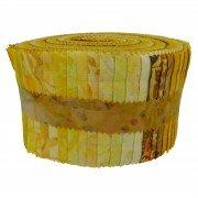 Fabric. Java Batiks Sunburst Pre-Cut strips Jelly Roll (40)