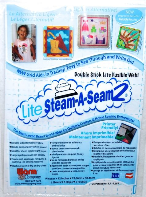 Steam-A-Seam2 LITE Fusible Stabilizer Sheets