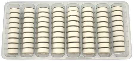 SuperBOBs L Style Bobbins #624 NATURAL WHITE 1/2 gross.