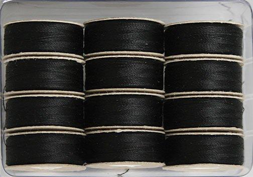 SuperBOBs M Style Bobbins. #625 BLACK. 1 dz.