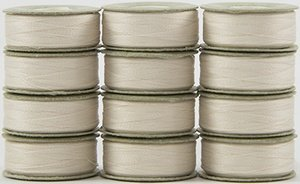SuperBOBs L Style Bobbins. #624 Natural White 1Dz.