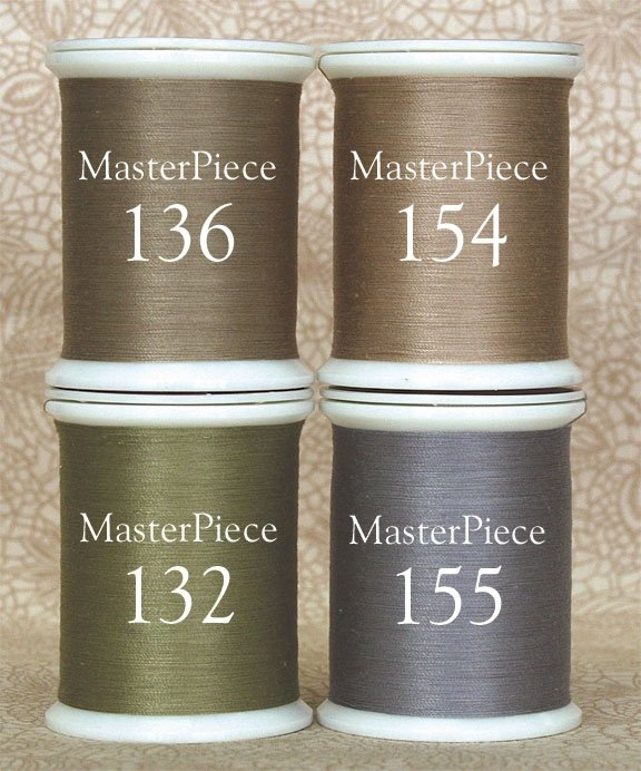 MasterPiece Thread Collection. Dark Neutral Colors.