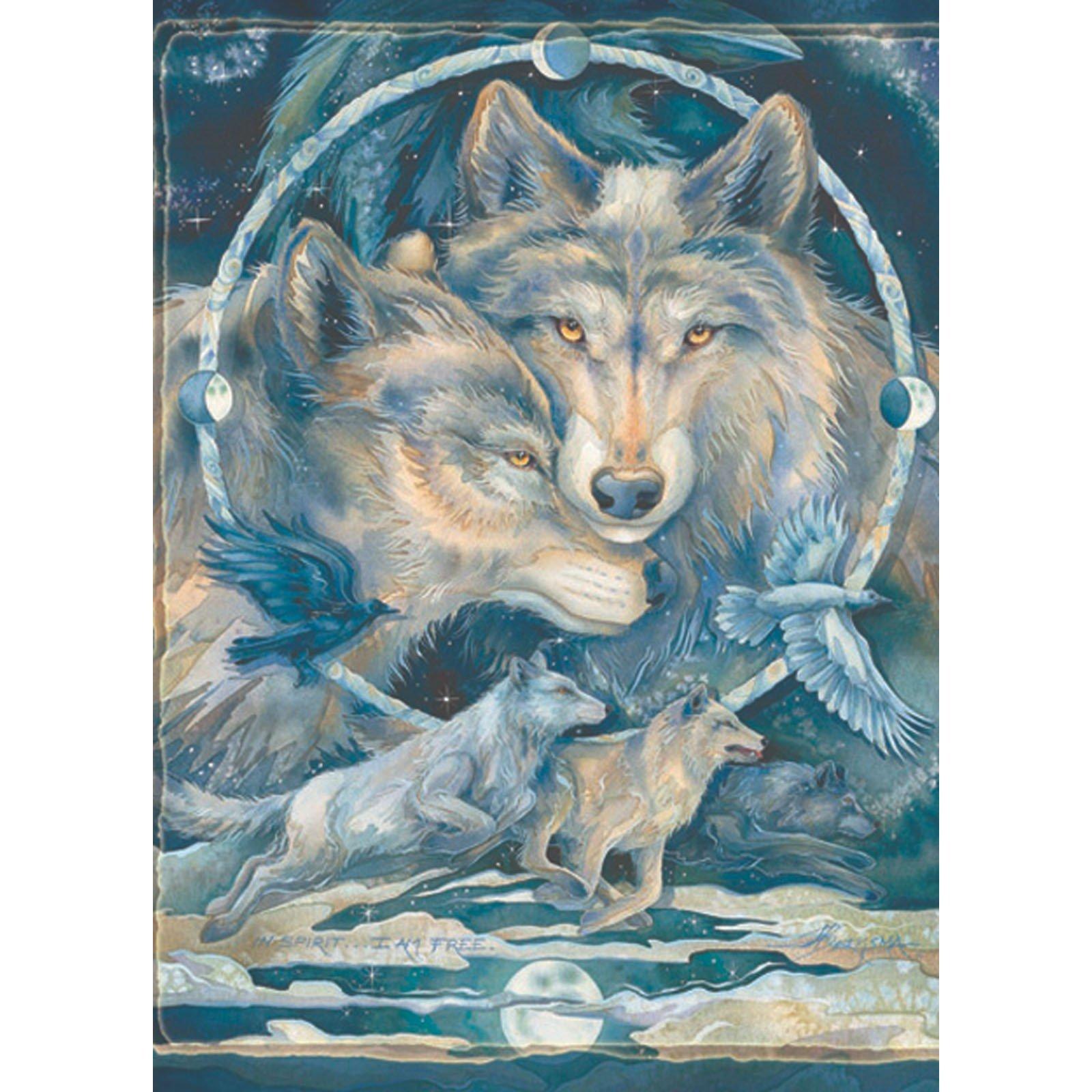 Fabric. Fleece Panel Wolves GORGEOUS Throw!