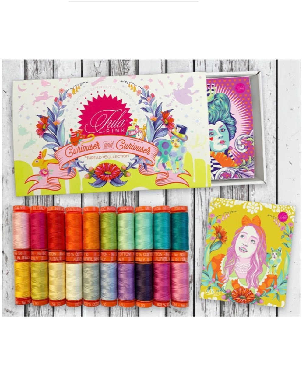 Coming! Tula Pink Curiouser & Curiouser Collection Pre-Order Button