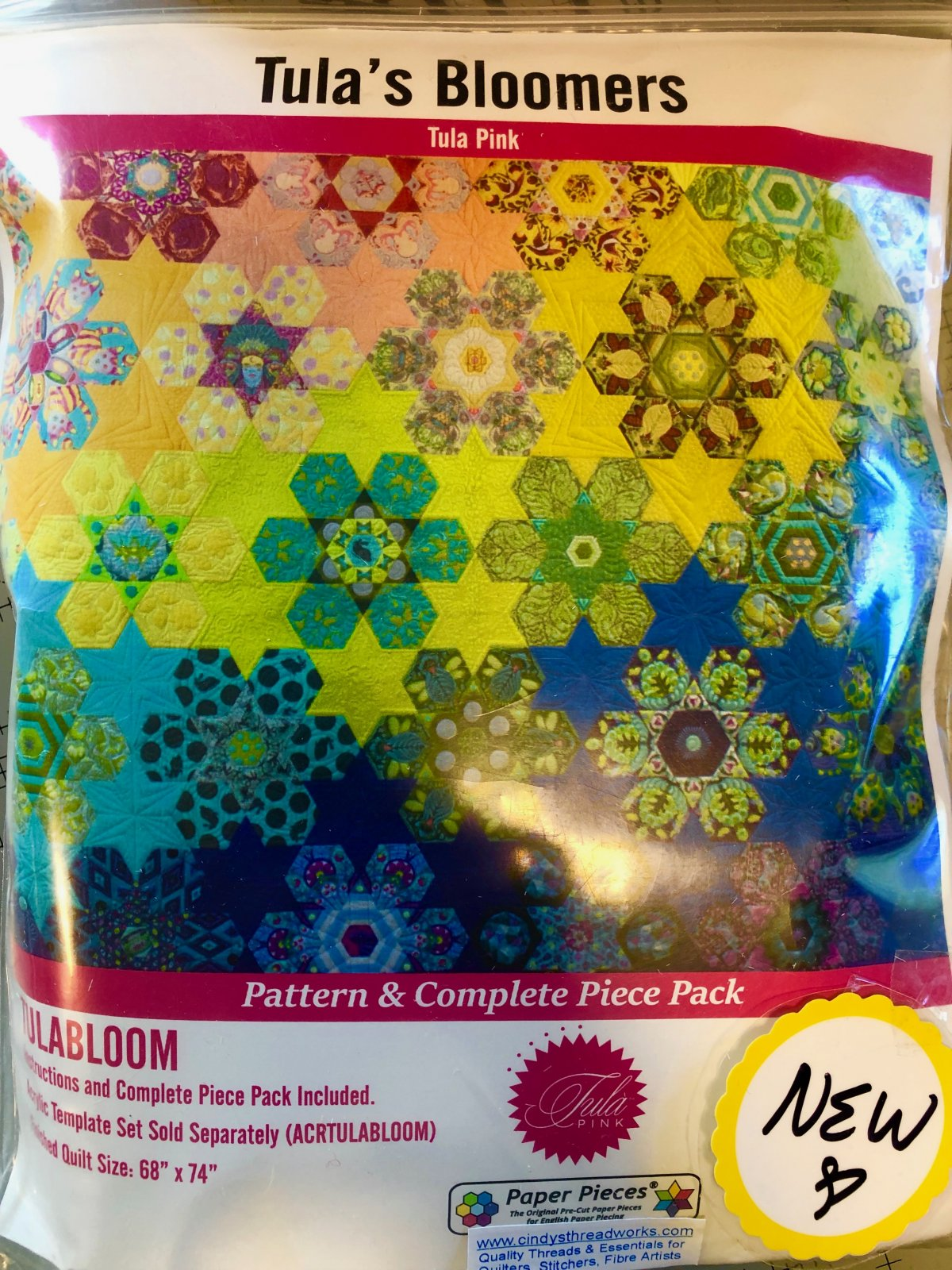 Pattern. Tula Bloomers Hexagon PIECE Pack & Pattern