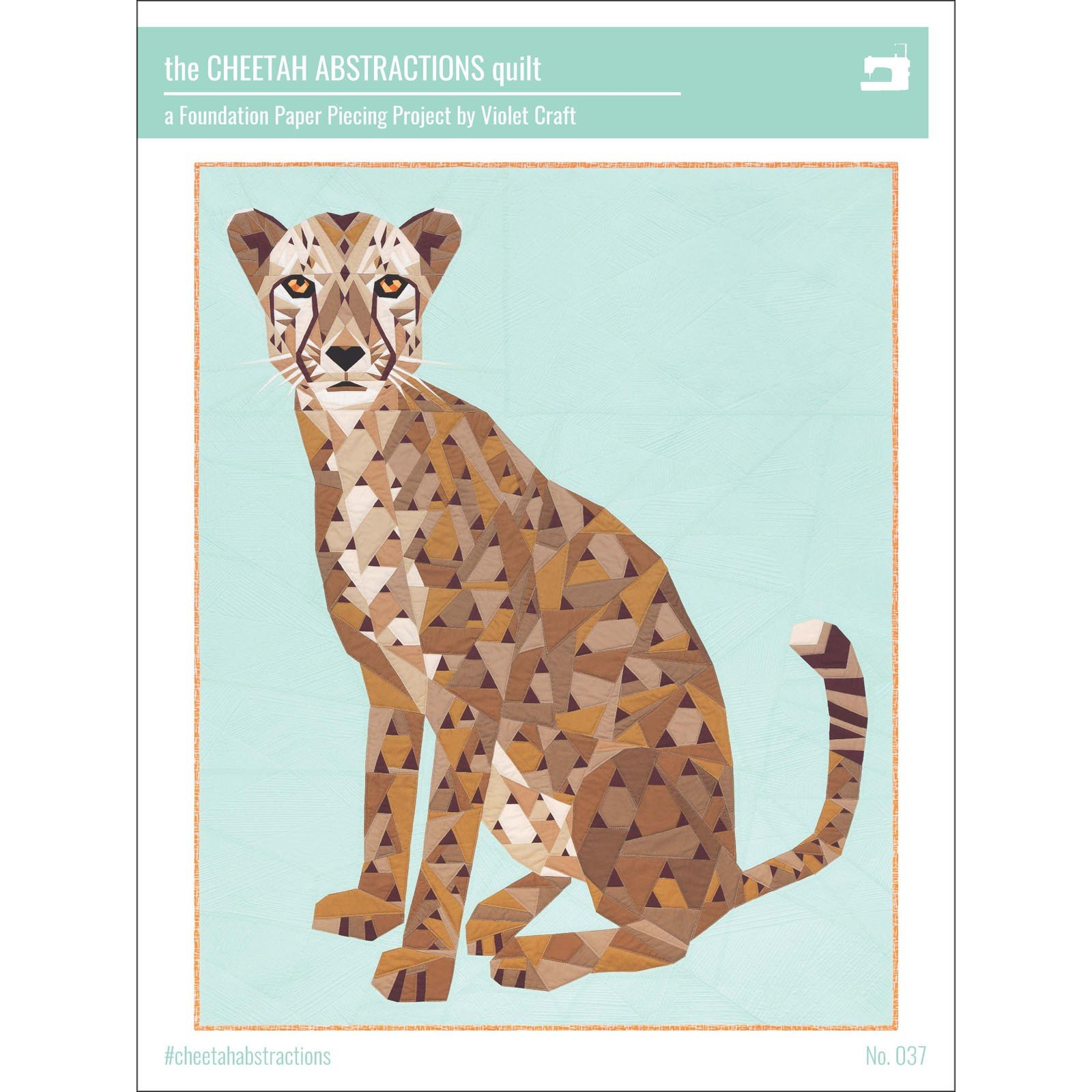 Pattern. NEW! Cheetah Abstractions Quilt Violet Craft