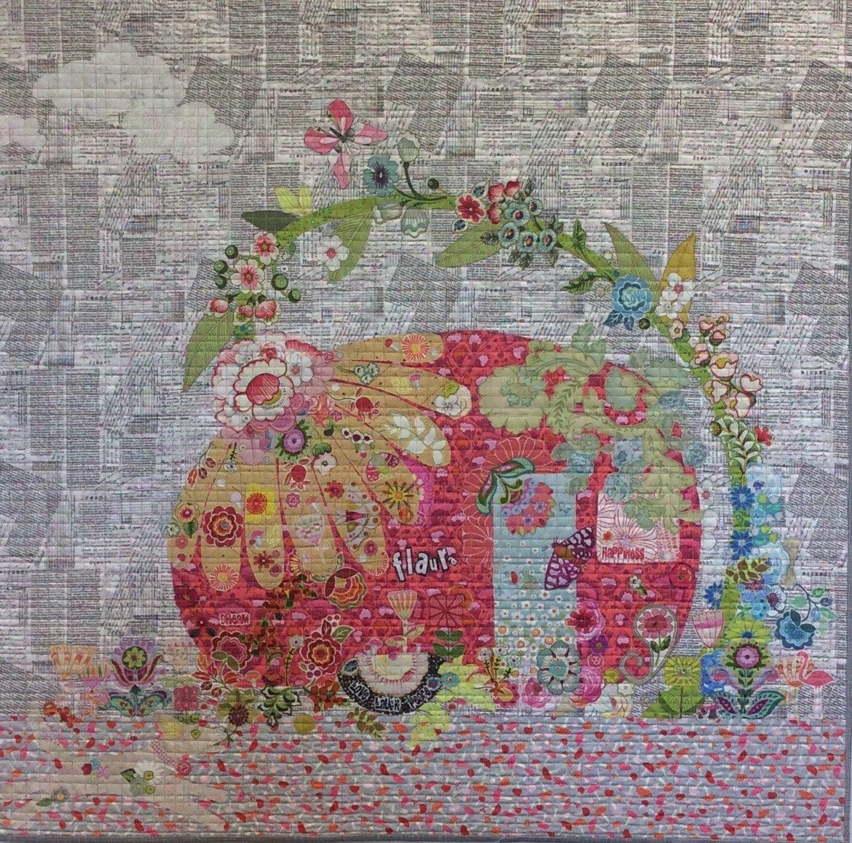 Pattern. Flaura Vintage Trailer Collage Quilt by Laura Heine