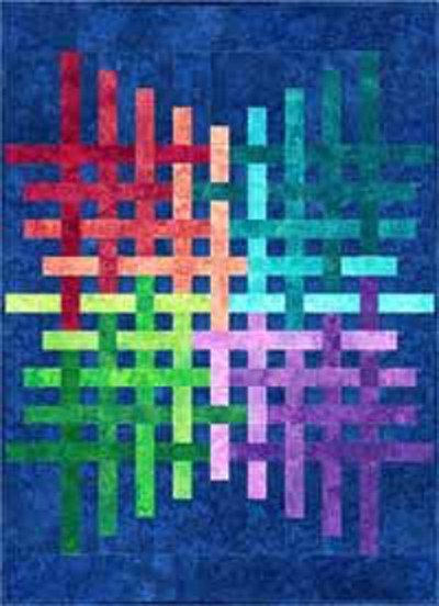 Brightly Woven Quilt Kit