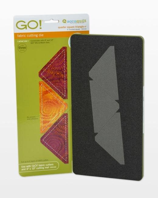 GO! Quarter Square Triangle 4.00-4 Finished Square (3 triangles)