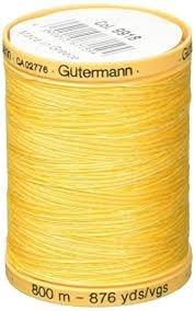Variegated Gutermann Natural Cotton 800m/876yds Sunrise Yellow