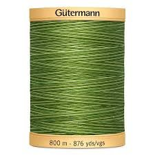 Foliage Green Variegated Gutermann Natural Cotton 800m/876yds