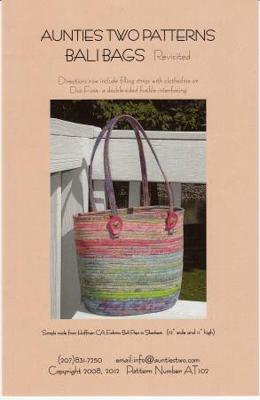Bali Bags - Fabric Covered Clothesline Crafts Pattern