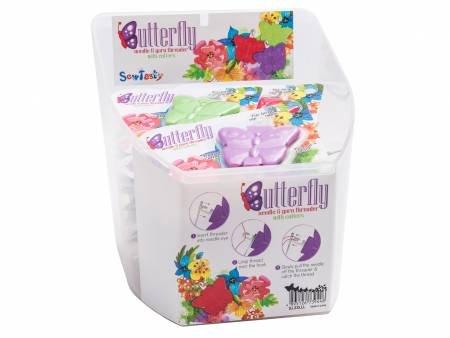 Butterfly Needle and Yarn Threader 24 pc Display Bucket