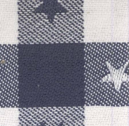 Tea Towel Star Check Navy/White