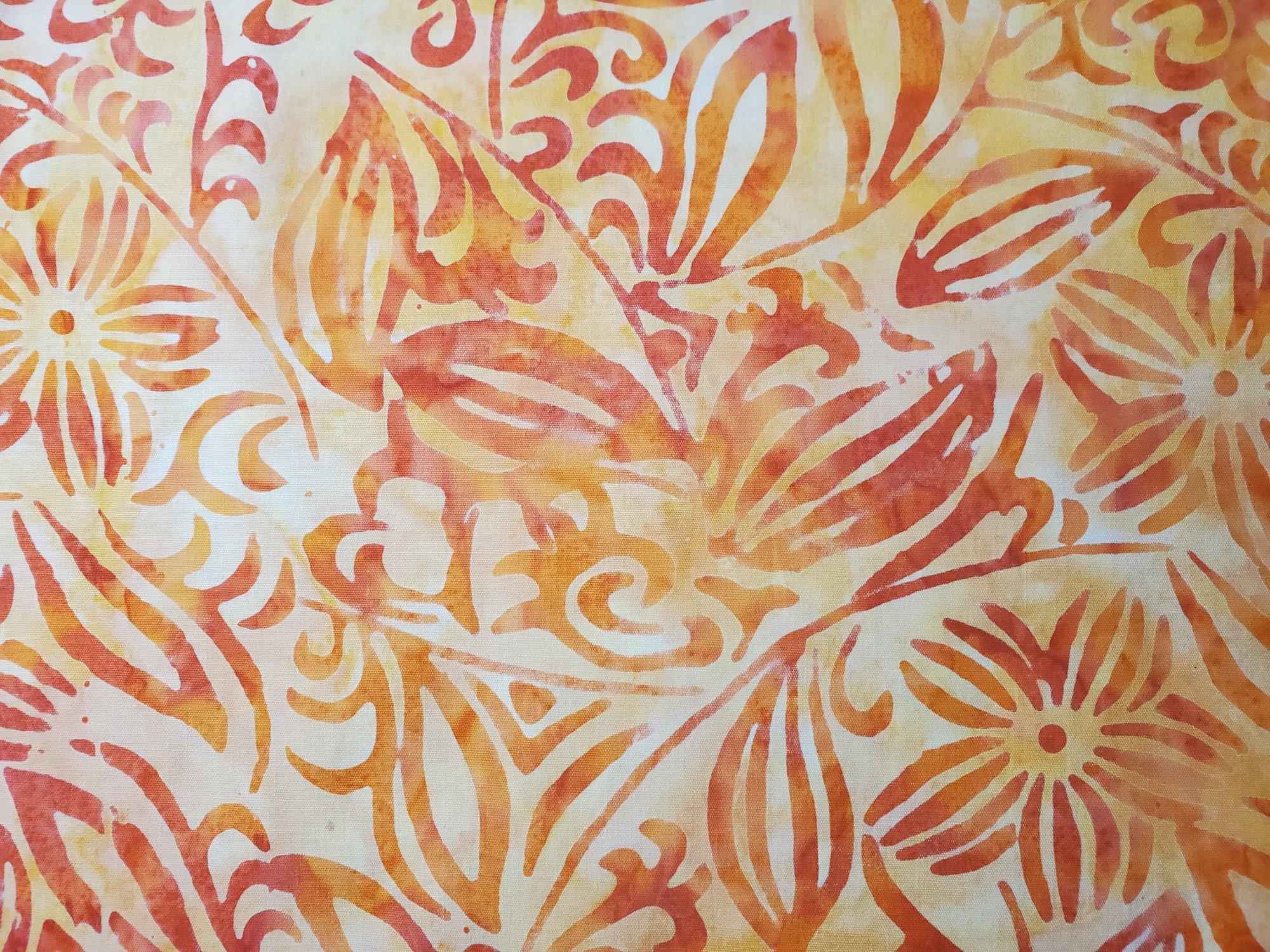 Java Batik n light orange floral!