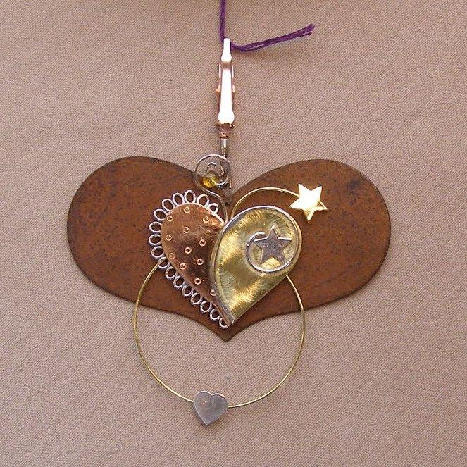 Thread Seperator Lg Heart with heart