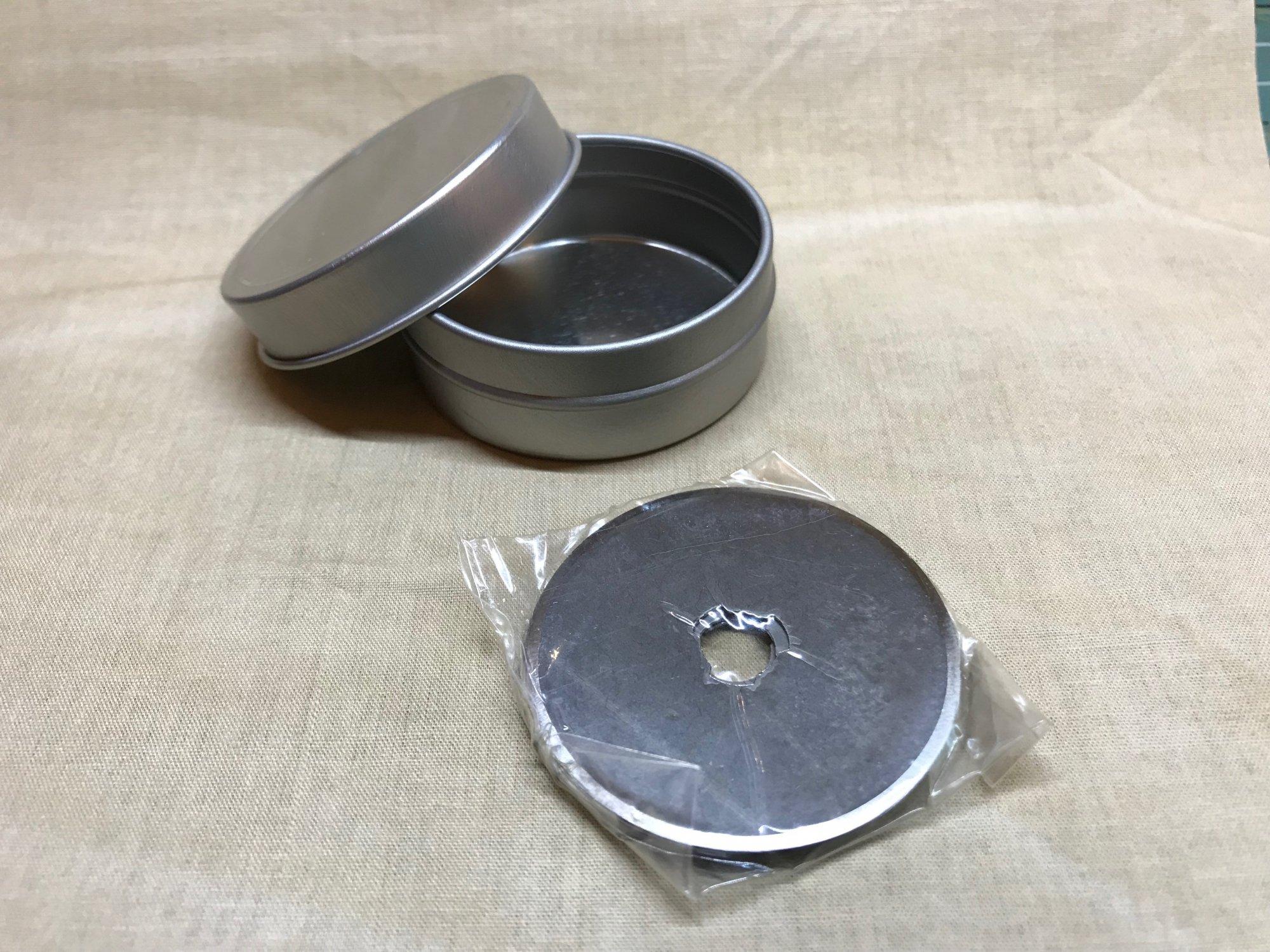 5 Pk Bulk Rotary Blades 45mm / Tin