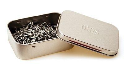 Nickel Safety Pins sz1*+