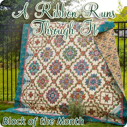 A Ribbon Runs Through It Block of the Month