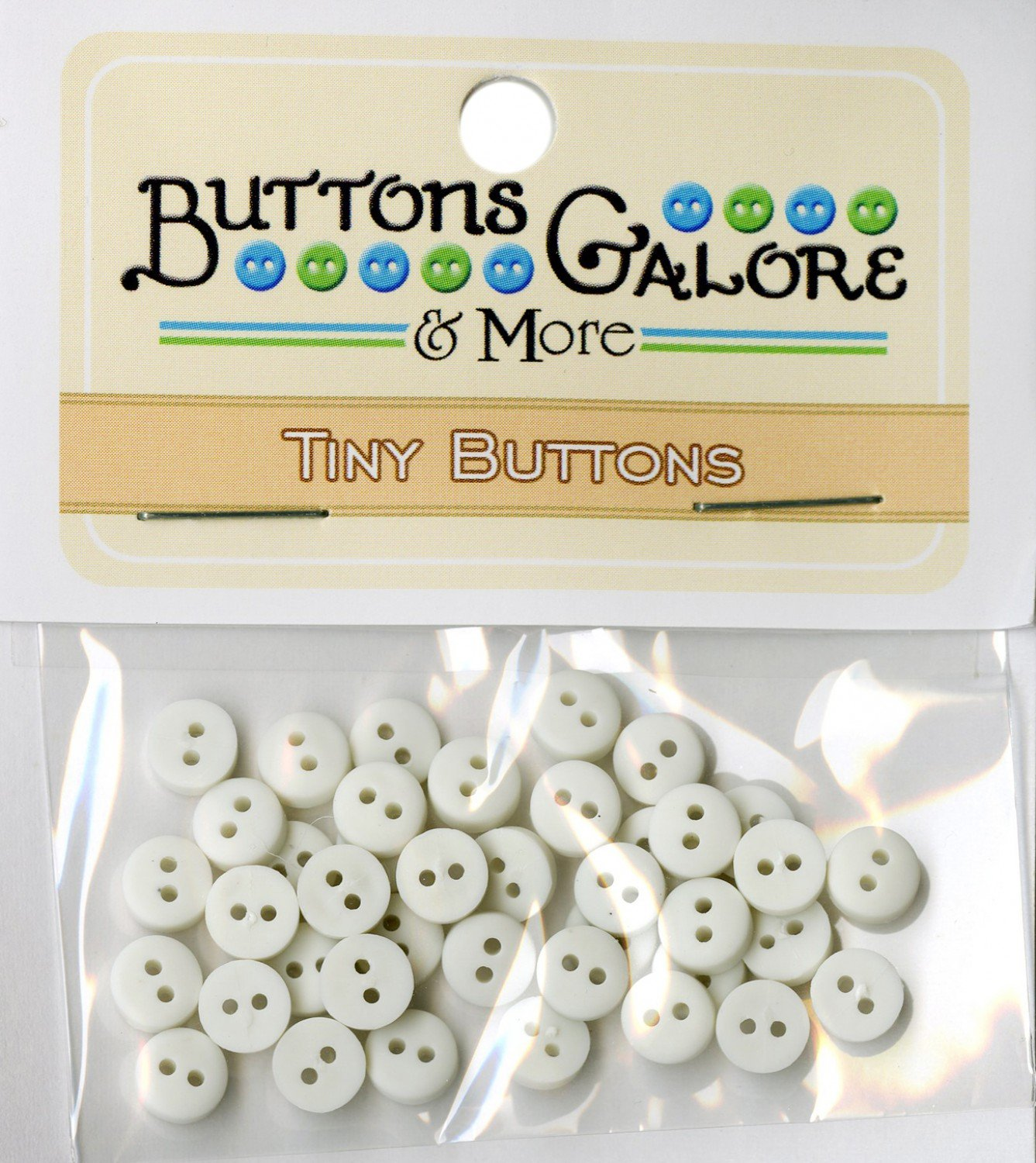 Tiny White Buttons 1/4