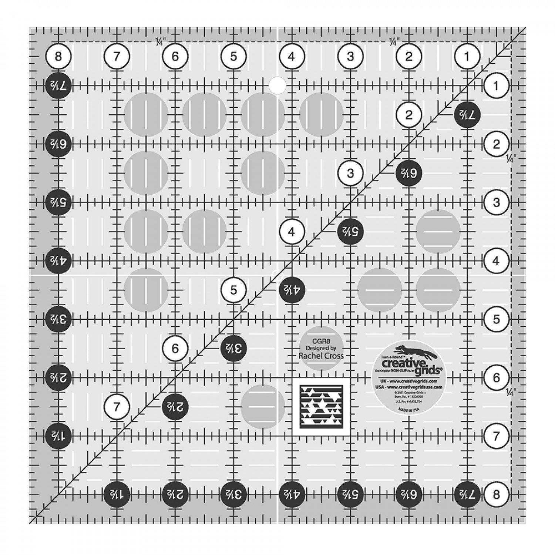 Creative Grids 8 1/2 Sq Ruler*+