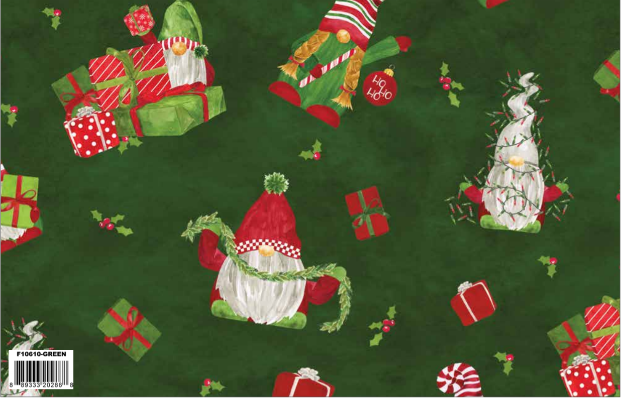 F10610-GREEN Gnome for Christmas Main Green