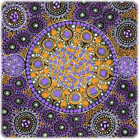 Fresh Life After Rain Purple by Christine Doolan+