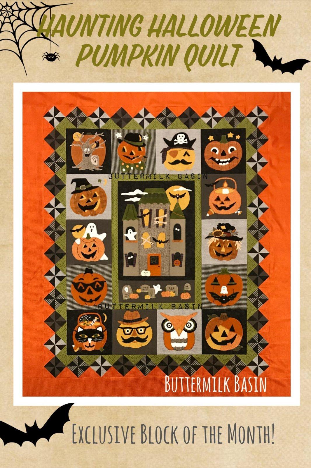 Haunting Halloween Pumpkin Quilt BOM