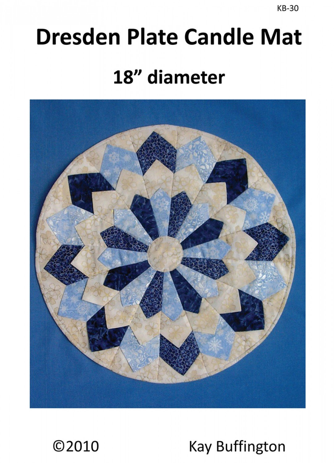 Dresden Plate Candle Mat Pattern KB-30