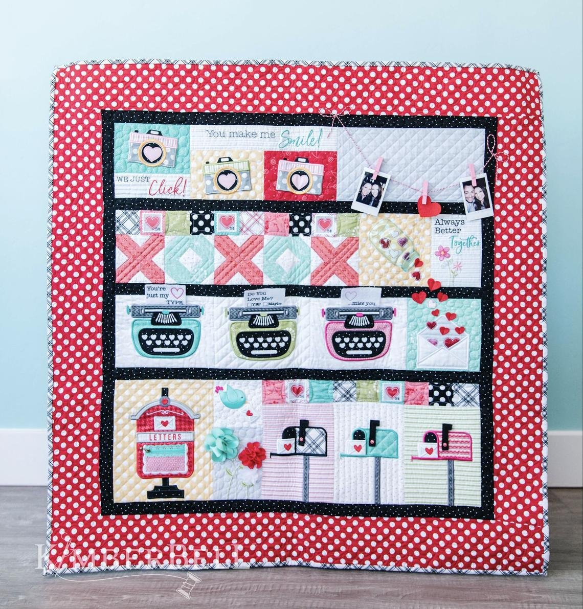 Love Notes Quilt Hand Stitched Complete Set