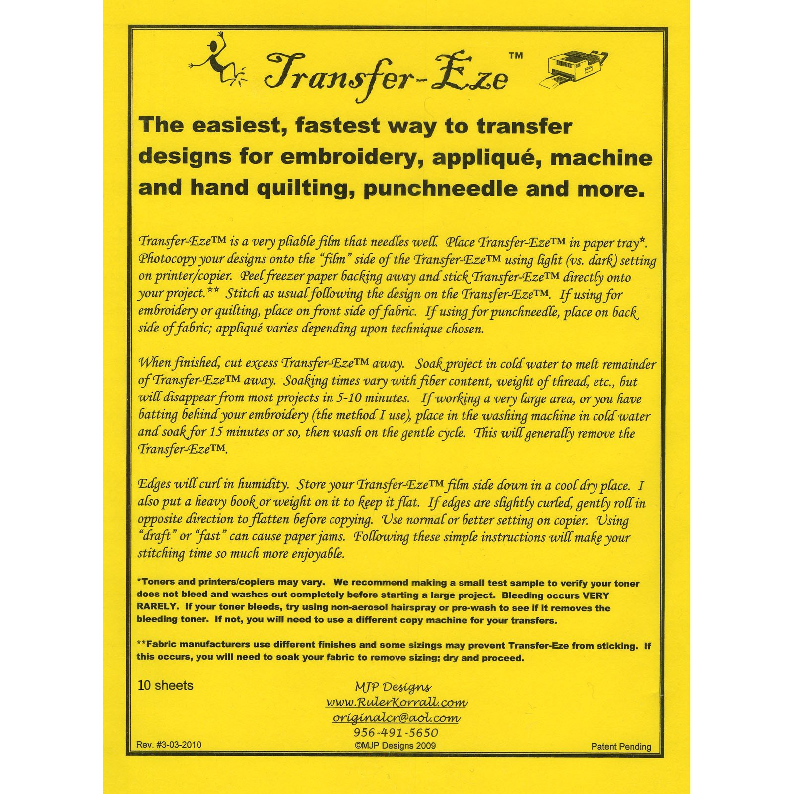Transfer-Eze 10 ct
