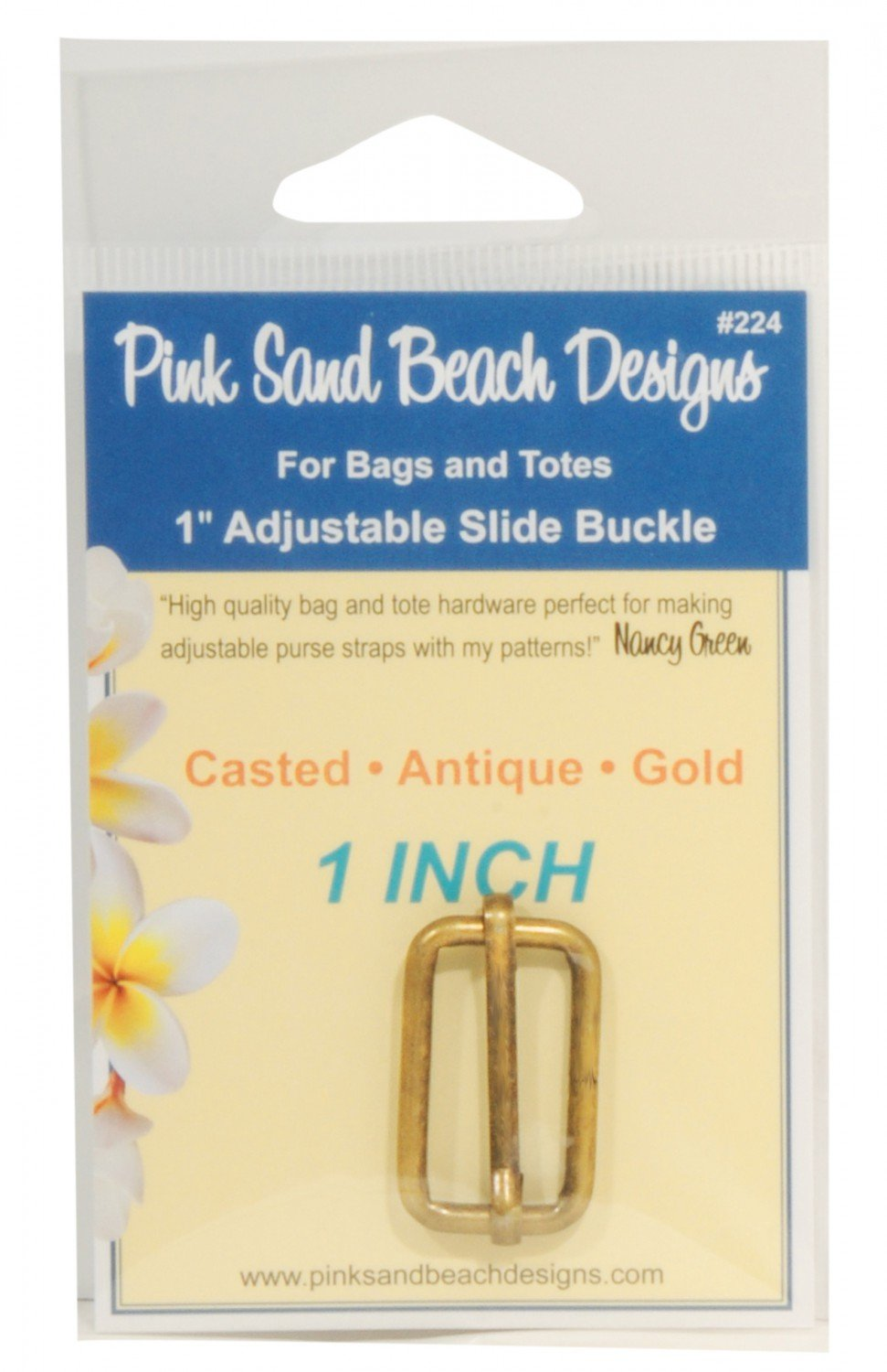 Adjustable Slide Buckle - 1in Antique Gold*+