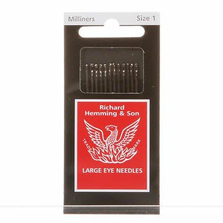 Richard Hemming Milliners Straw Needles Sz 1!