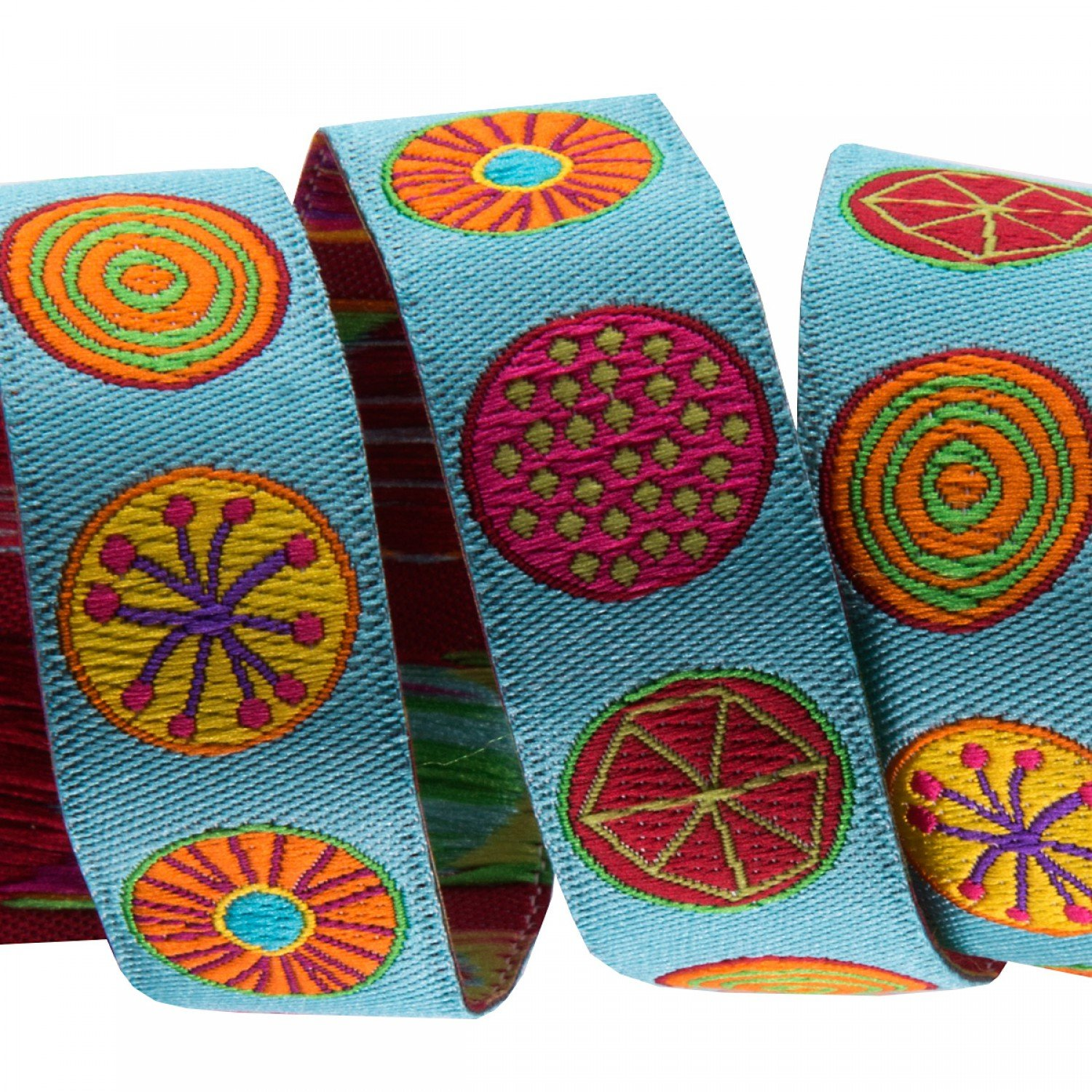 5/8in Ribbon Circles on Turquoise
