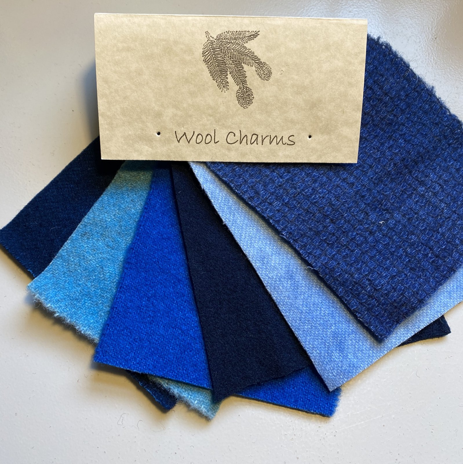 Wool Charms: Blue!