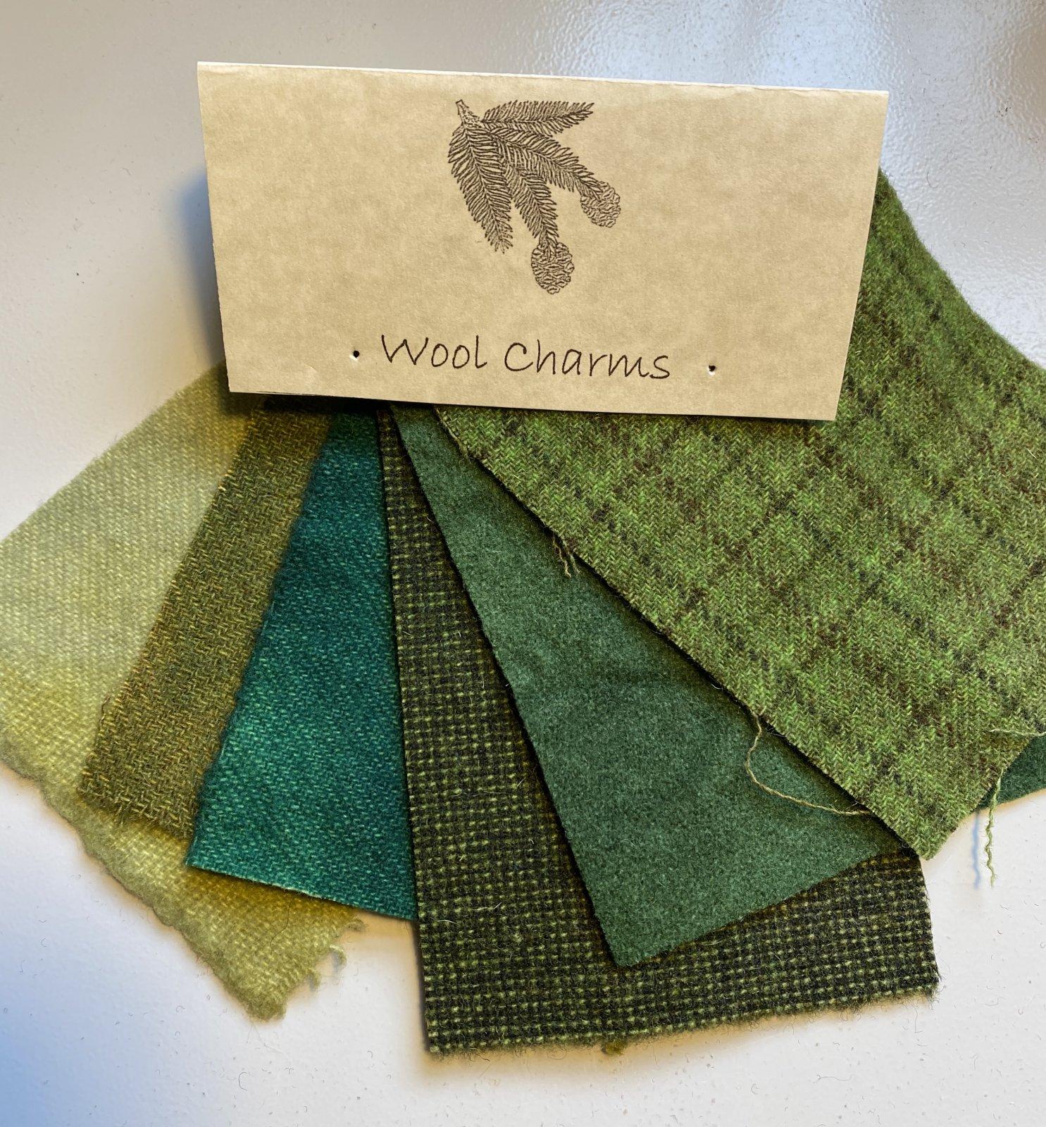 Wool Charms: Green!