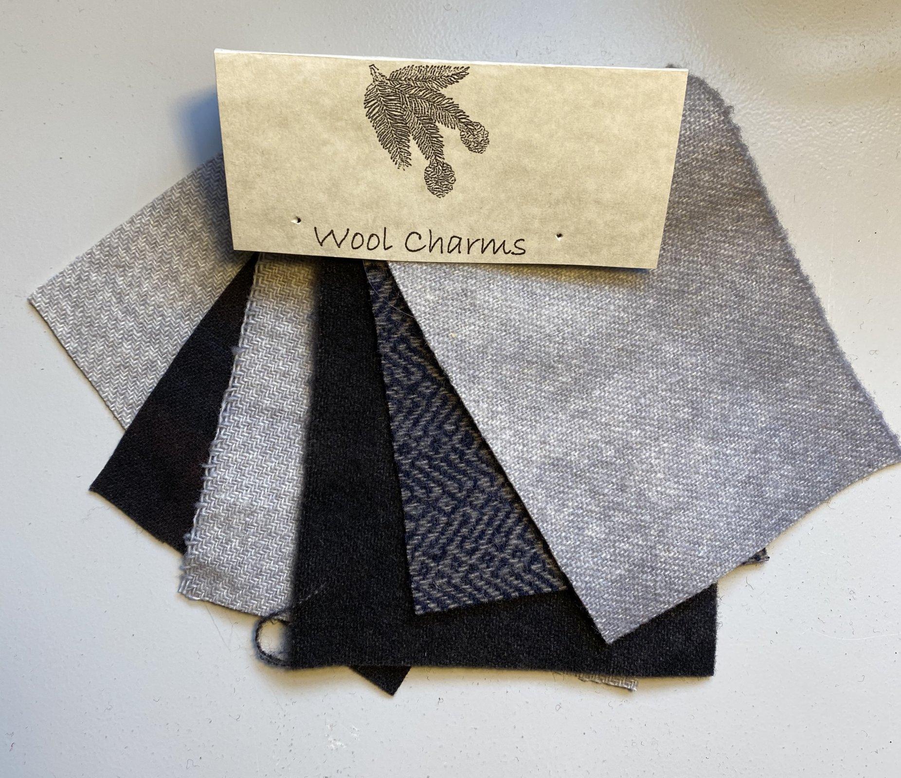 Wool Charms: Grey/Charcoal!