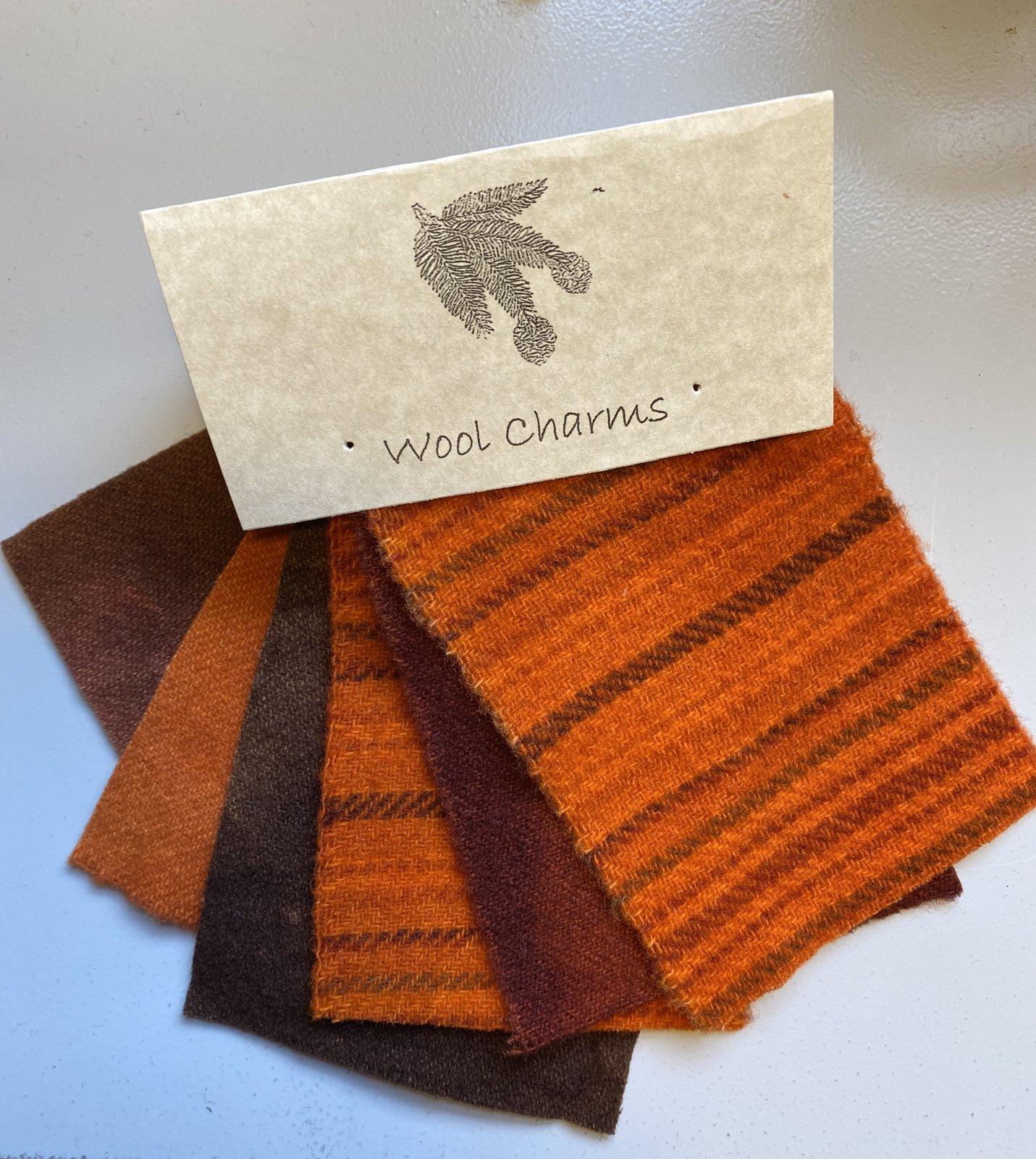 Wool Charms: Orange/ Rust!