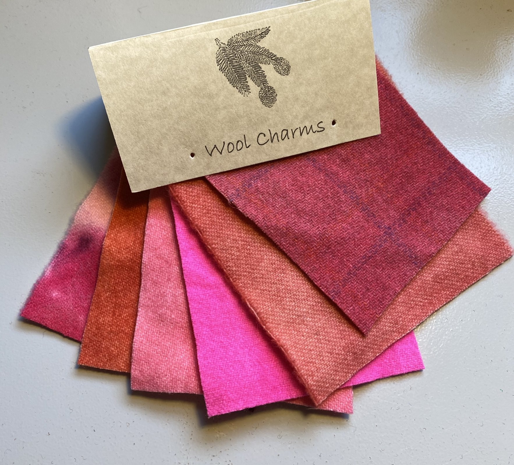 Wool Charms: Pink!