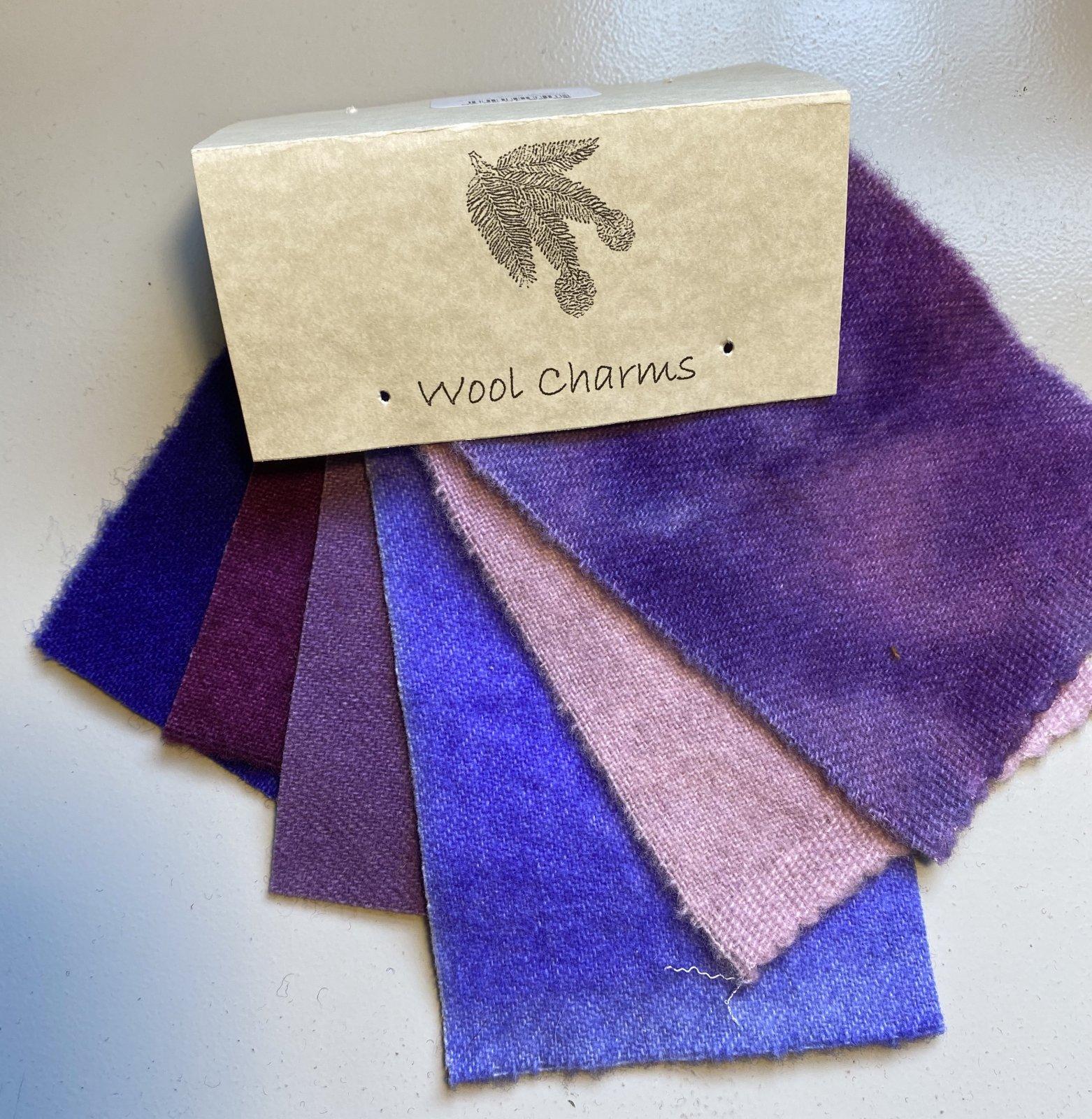 Wool Charms: Purple!