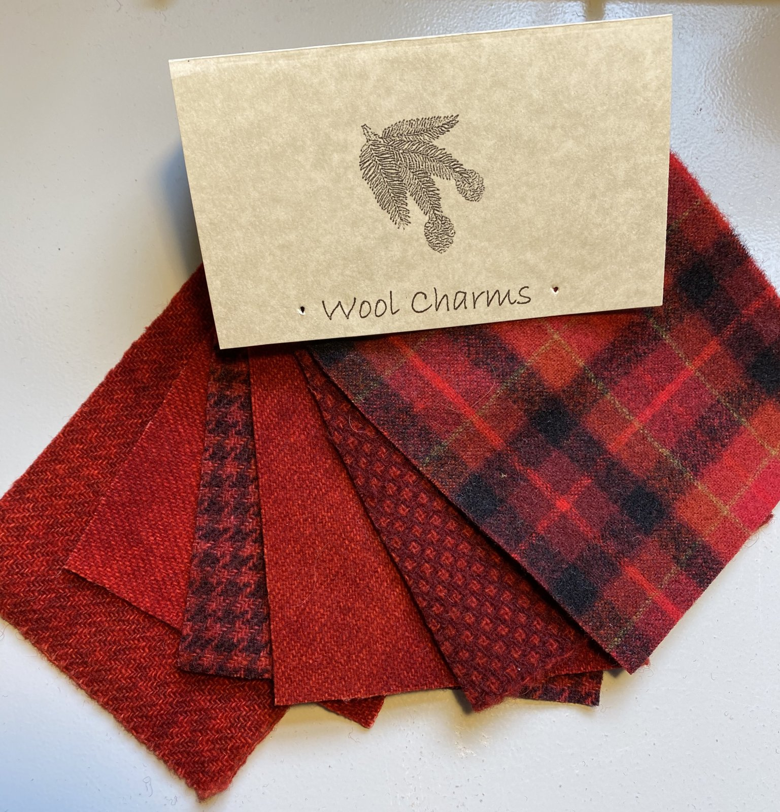 Wool Charms: Red!