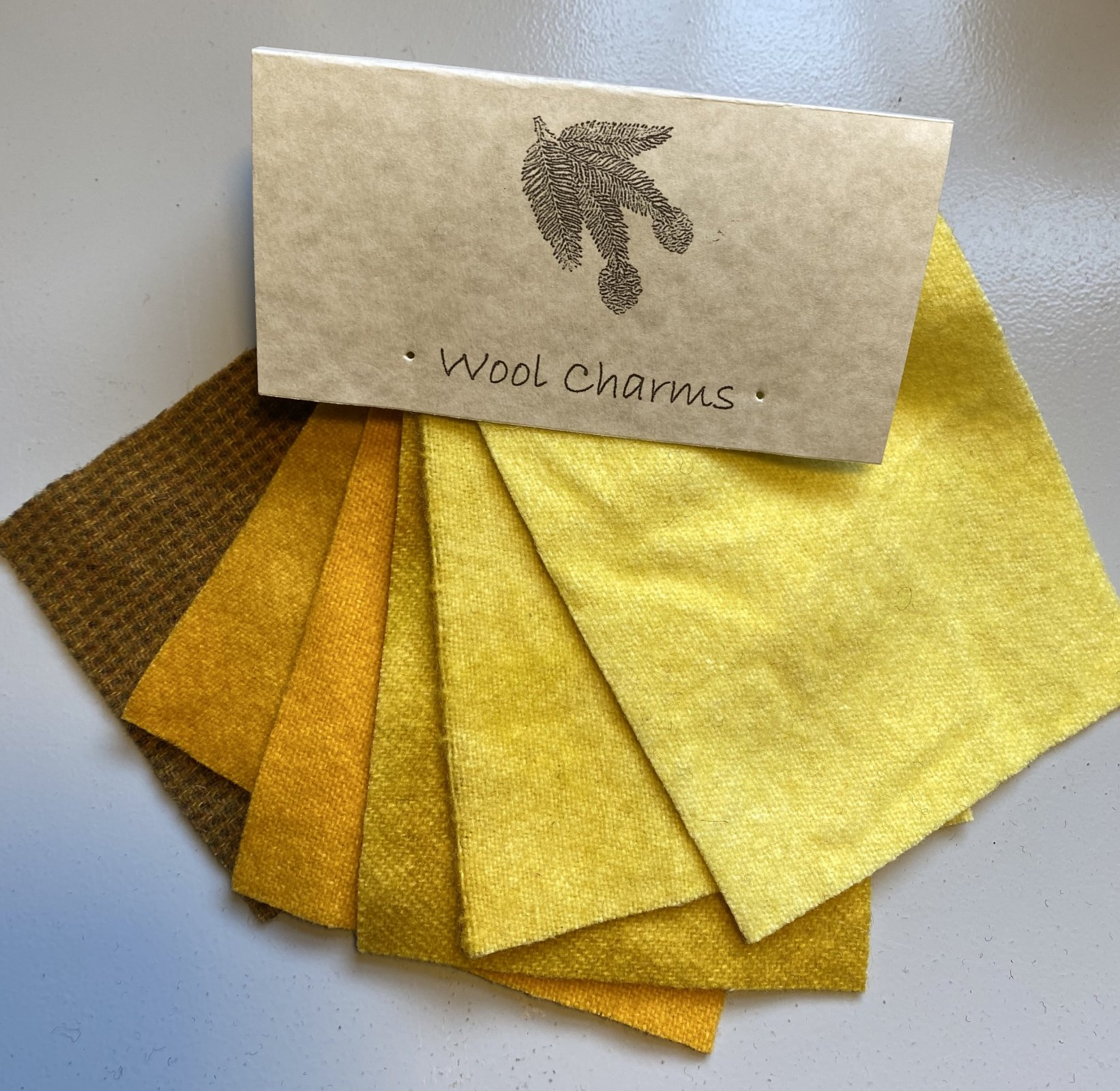 Wool Charms: Yellow/Gold!