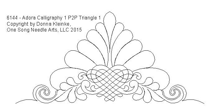 Adora Calligraphy 1 P2P Triangle 1