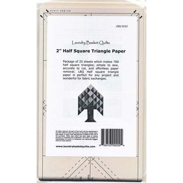 2 Half Square Triangle Paper LBQ